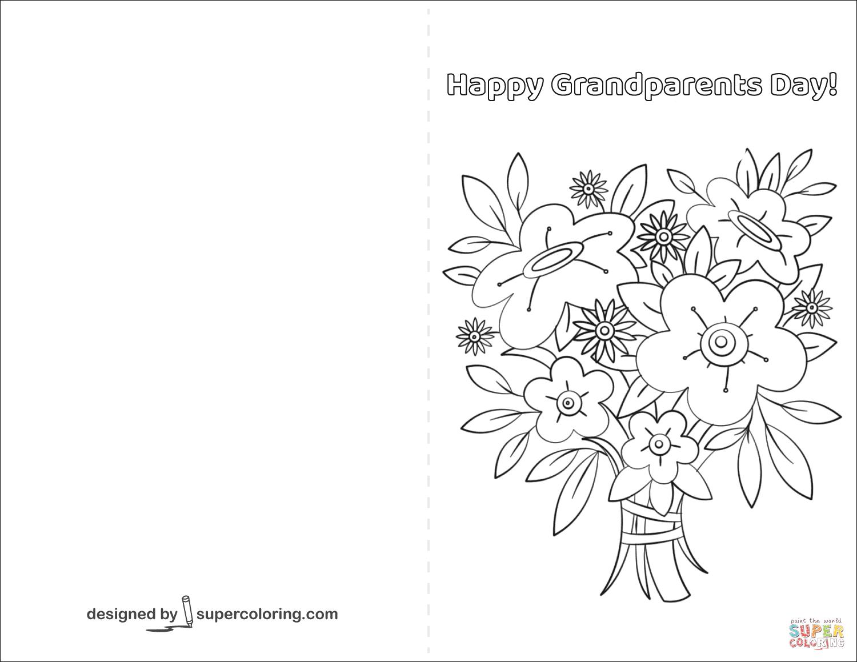 Попугаем, открытка для бабушки на день рождения раскраска распечатать
