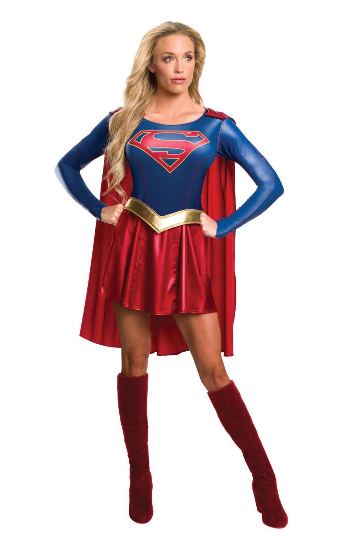 Supergirl. Supersankarihahmot ovat suosittuja naamiaisasuissa.