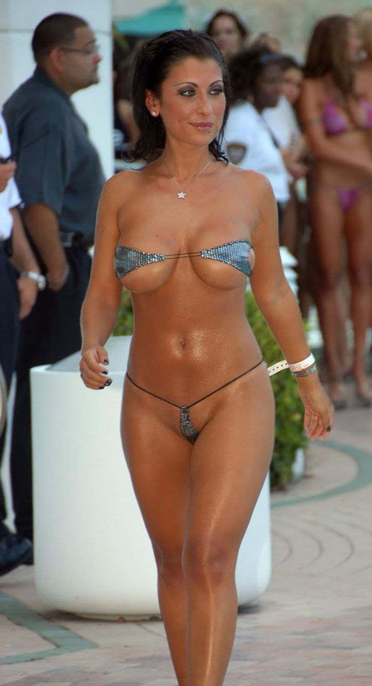 Have faced skimpy sling bikini with