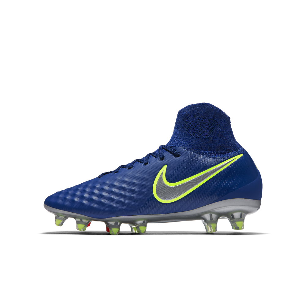 sports shoes 5ab51 ea0e3 Nike Jr. Magista Obra II Little Big Kids  Firm-Ground Soccer Cleats Size  5.5Y (Blue) - Clearance Sale
