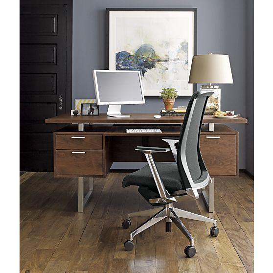Reminds Me Of My Parentsu0027 Old Office Desk. Clybourn Desk In Desks | Crate  And Barrel