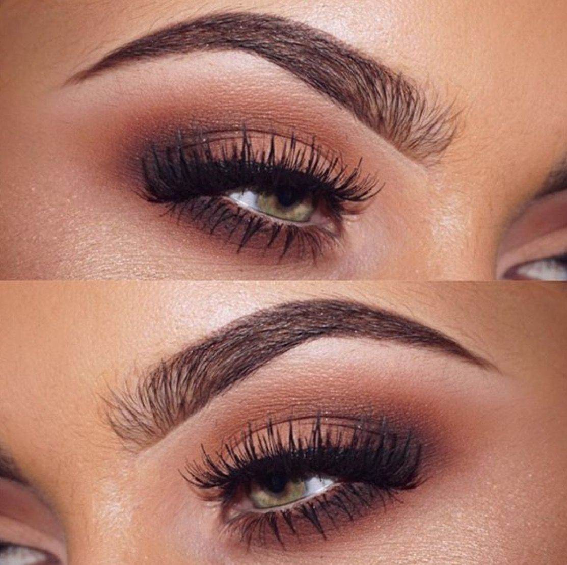 Gorgeous Blended Matte Brown Smokey Eye Ginger Color In The