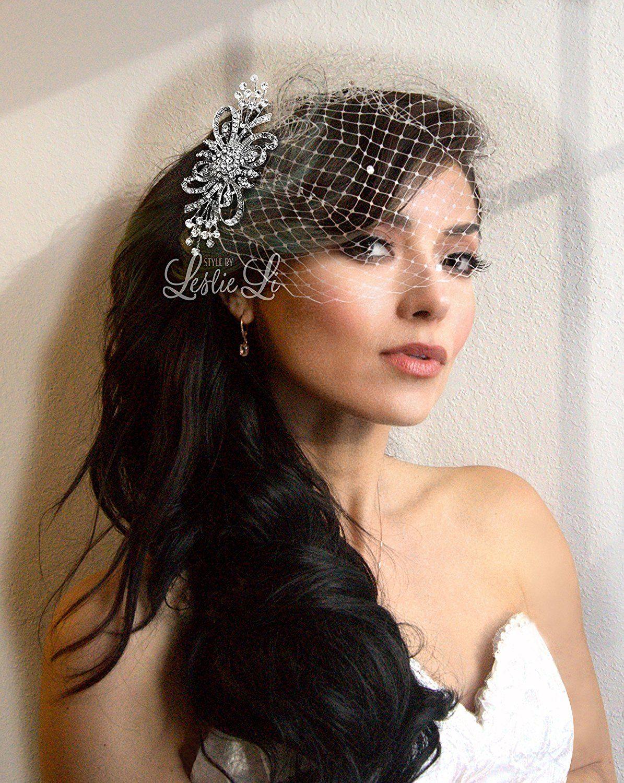 leslie li women's glorious ribbons & swirls brooch and petite bridal