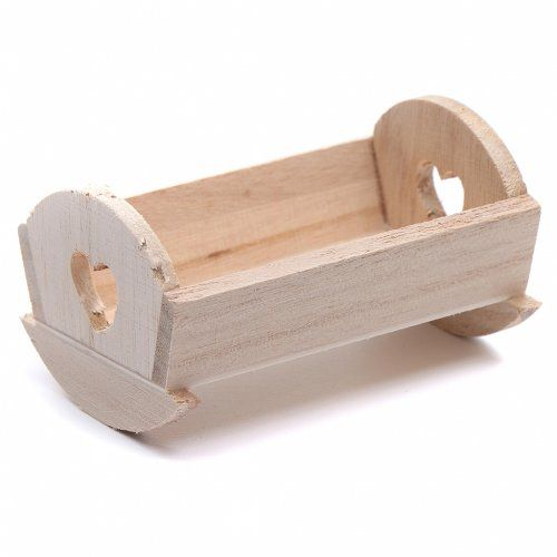 Cuna madera para Niño Jesús de 6-6,5 cm