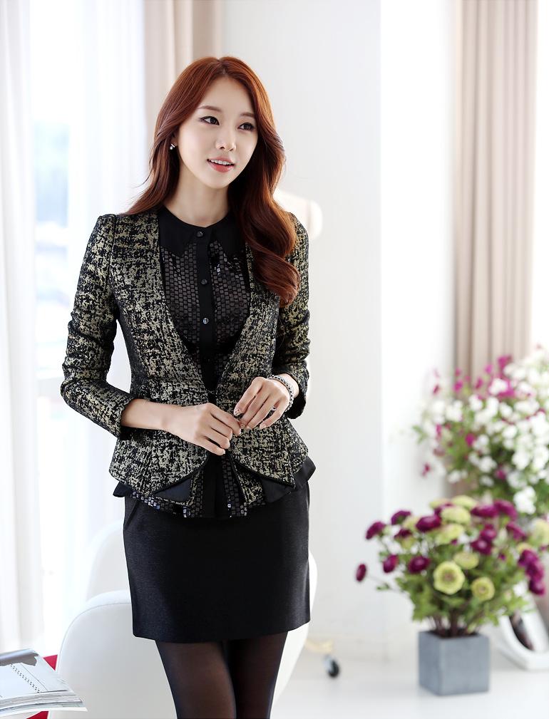 2018 年の moda coreana 35 modelos de blazers para chicas parte 2