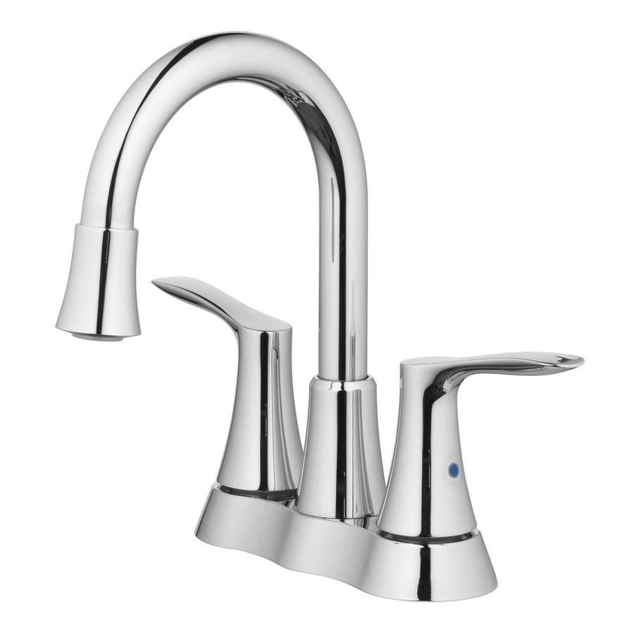 Allen Roth Chrome 2 Handle 4 In Centerset Watersense Bathroom Sink Faucet With Drain Lowes Com Sink Faucets Bathroom Sink Faucets Water Sense [ jpg ]