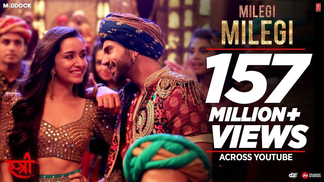 Milegi Milegi Video Song Stree Mika Singh Sachin Jigar Rajkummar Rao Shraddha Kapoor Youtube Mika Singh Songs Bollywood Songs