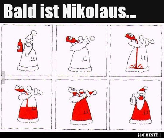 Bald ist Nikolaus... | Lustige Bilder, Sprüche, Witze, echt lustig #nikolausspruchlustig