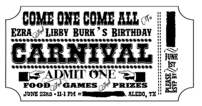 Free Customizable Carnival Invitation Printable Freebie Here S A