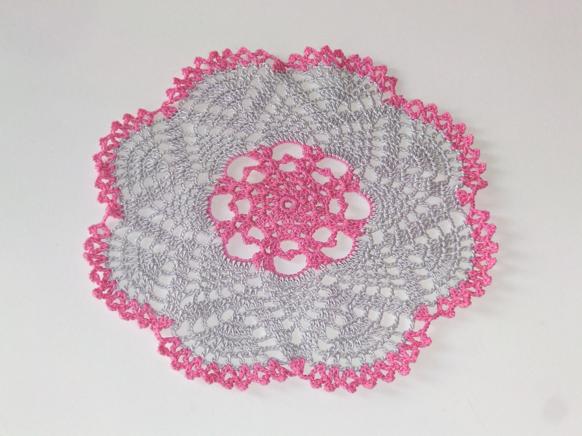 Napperon Gris Fuchsia Au Crochet Coton D Coratif Femme D Co Table