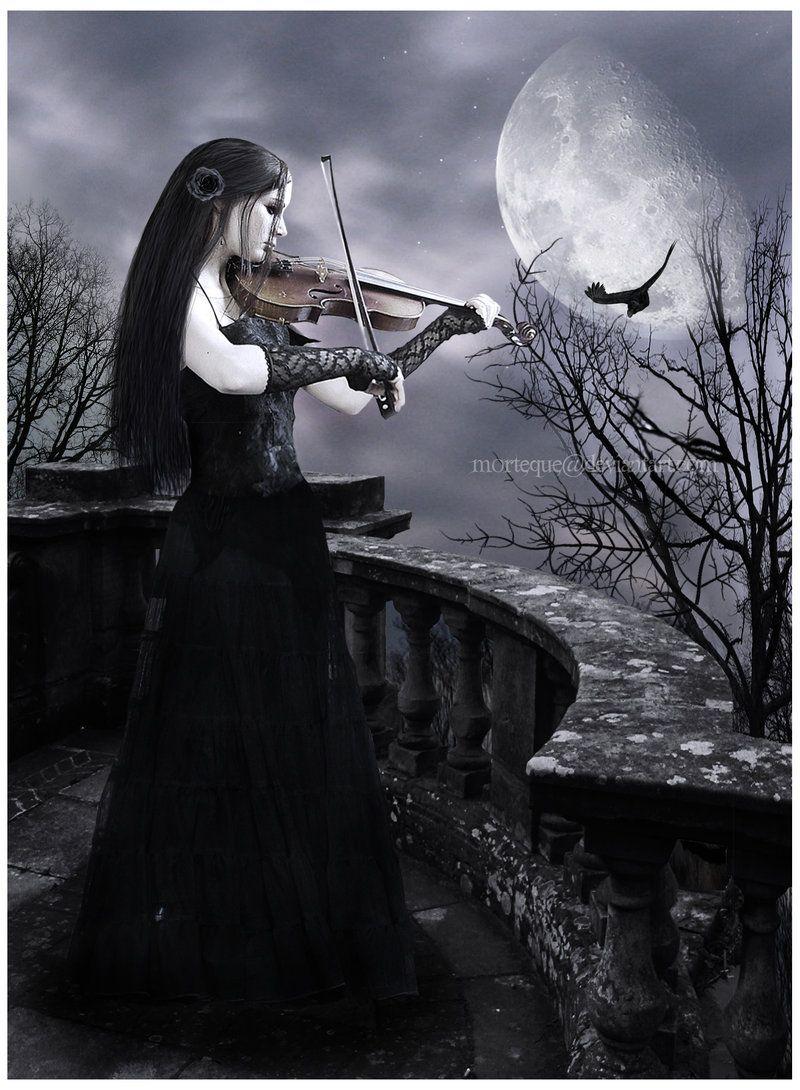 Echa Un Vistazo A Las Hadas Tocando Violin Arte Oscuro Bello Obras De Arte Gótico Arte De Fantasía Oscura