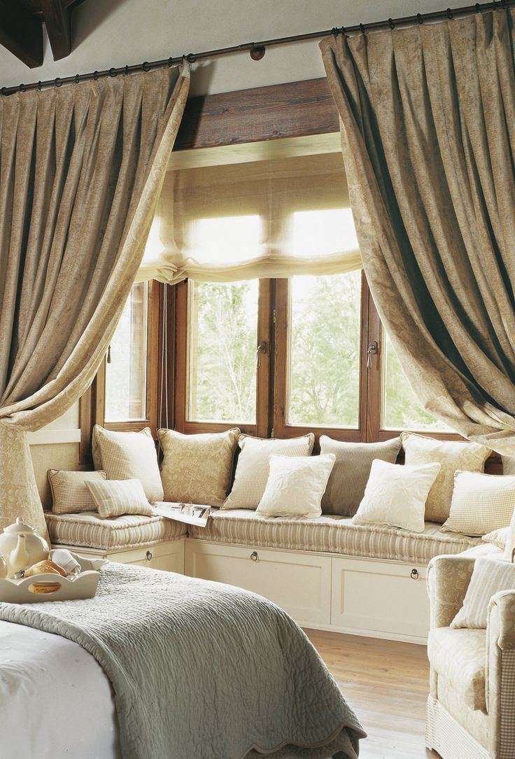 Bed on bay window  comfy window seat  home stuff  pinterest  window comfy and bench