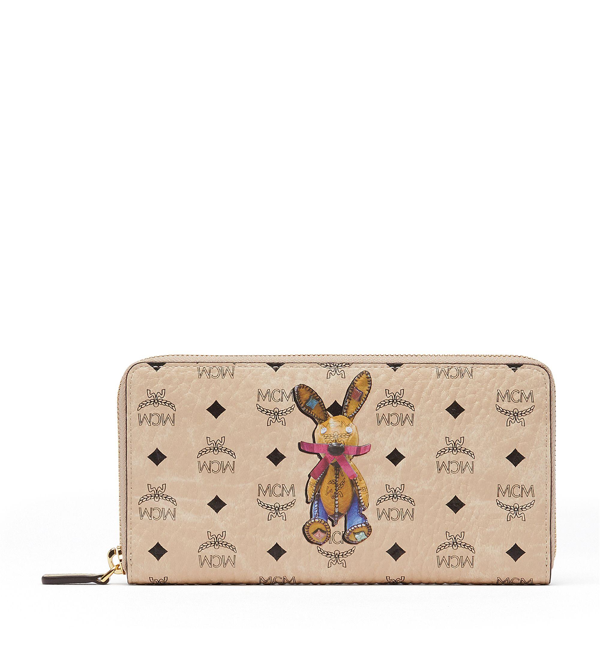 Mini Rabbit Zip Around Wallet in Cognac Visetos MCM 27MVYPt