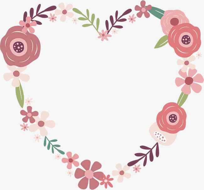 Cartoon Rose Love, Heart Of Love, Flower Vine, Garland PNG