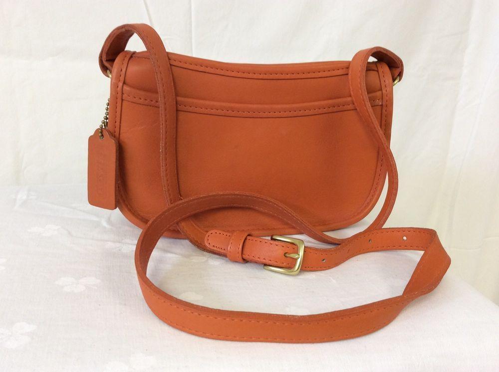 Vintage COACH Orange WENDIE Leather Crossbody Handbag - L7D 9031 ... 17d05898d8