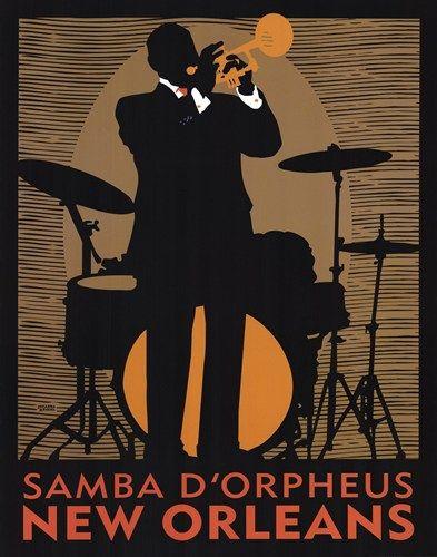 Samba D'Orpheus, Art Print by Johanna Kriesel | Music ...