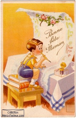 Carte Ancienne Fete Des Mamans Carte Fete Des Meres Bon Fete