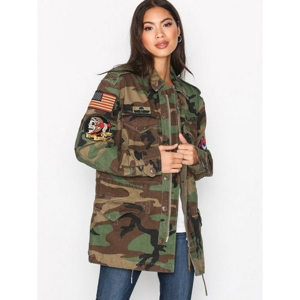 e0191264b9eaa Polo Ralph Lauren Camo Twill Military Jacket ( 410) ❤ liked on Polyvore  featuring outerwear