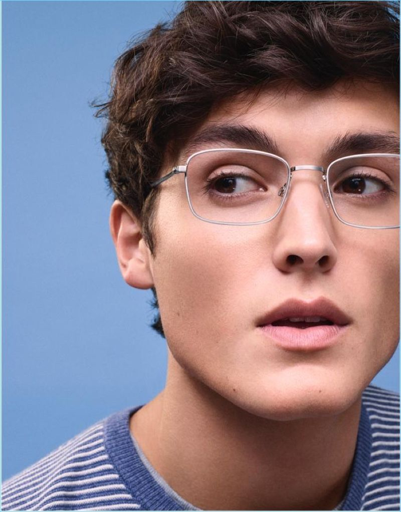 b6bb55a0c690 Colby Brittain sports Warby Parker Thurston glasses in antique silver.