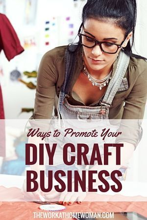ways to promote your diy craft business work from home pinterest