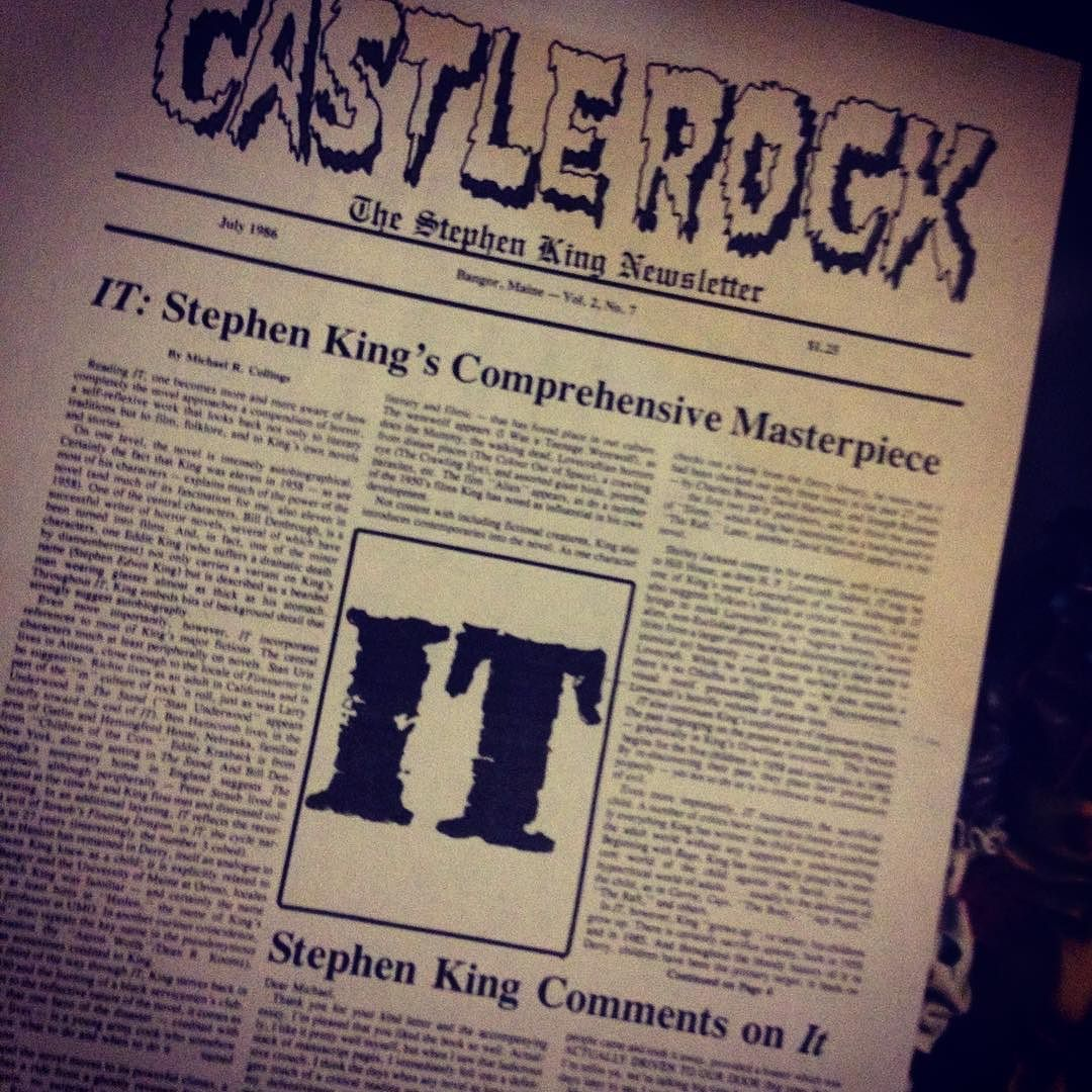 Opening page of an 1986 issue of CASTLE ROCK with a review
