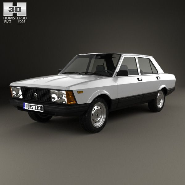 3d Model Of Fiat Argenta 1981 Fiat Fiat Cars Car