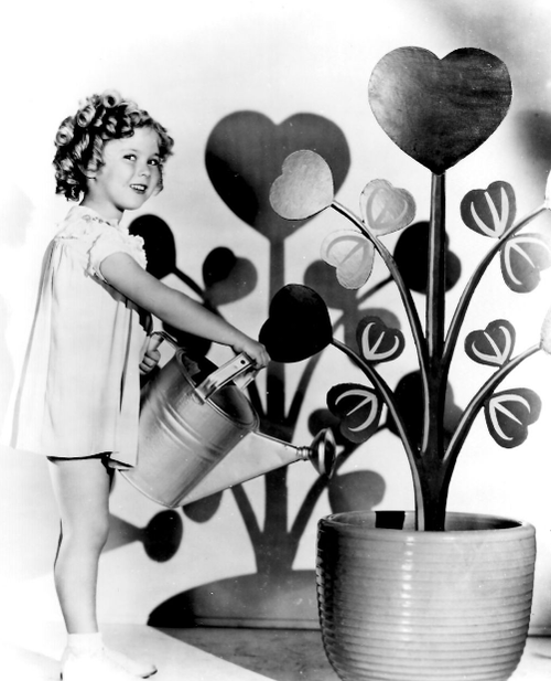 Shirley Temple celebrating Valentines Day....1934.....