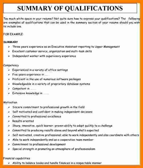 Resume Summary Examples For Retail New 6 Summary Of Qualification