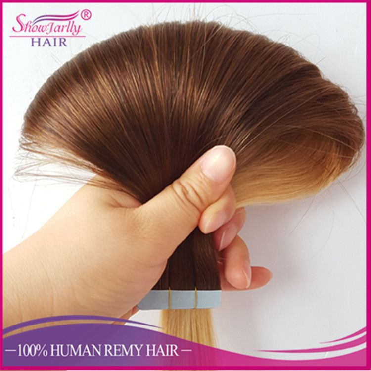 Cheap Russian Invisible Tape Hair Extension Wholesale Double Drawn