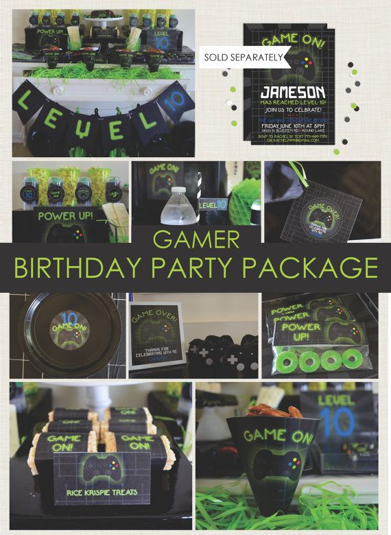 Gamer Party Package Playstation Xbox By NestlingDesign