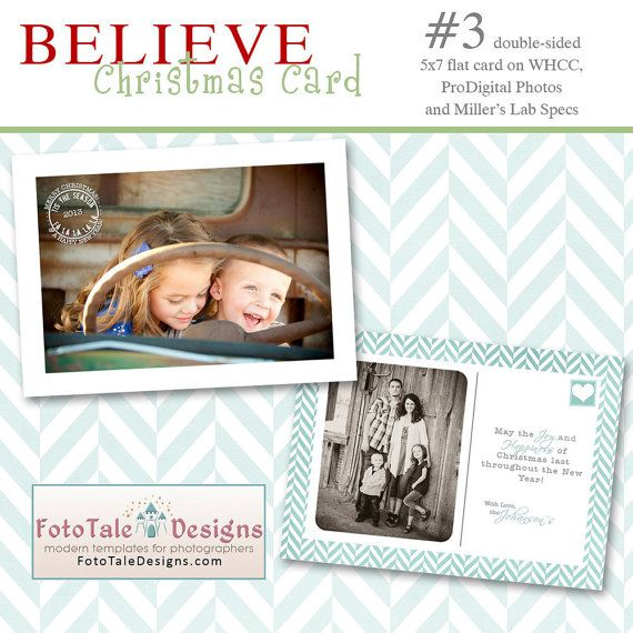 Believe Christmas Card No 3 5x7 Photo Card Templates For Photographers On Whcc And Millers Lab Specs 8 00 Via E Photo Card Template Photo Cards 5x7 Photo