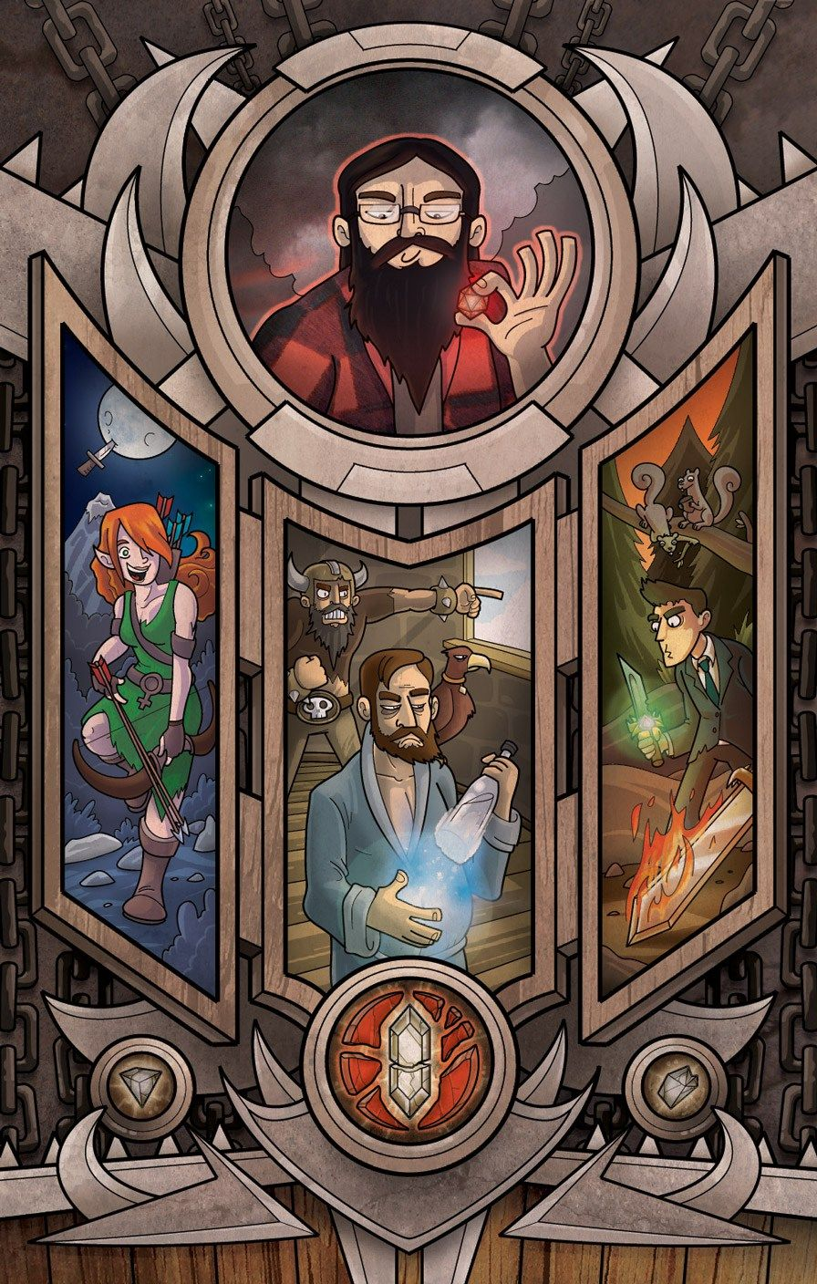 Harmontown Dungeons & Dragons Poster by Tony Fraguero