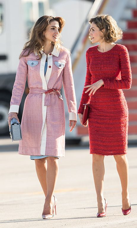 3244cd6e0dd Queen Letizia of Spain and Queen Rania of Jordan: Style summit in Madrid