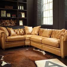 Tan Leather Corner Sofa With Grey Walls Google Search