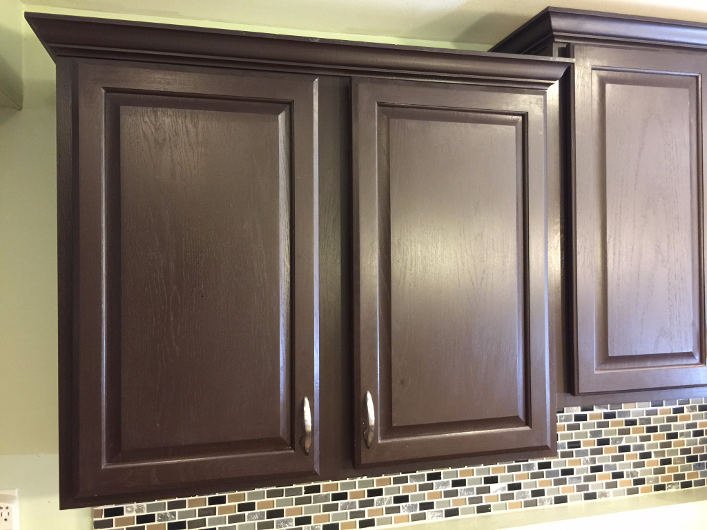 How To Paint Kitchen Cabinets With A Rust Oleum Kit Espresso Kitchen Cabinets Expresso Kitchen Cabinets Painting Kitchen Cabinets