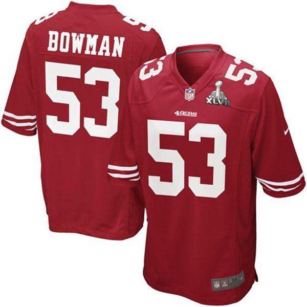 60e687323 ... switzerland nike navorro bowman san francisco 49ers super bowl xlvii  bound game jersey 56f07 a348b ...