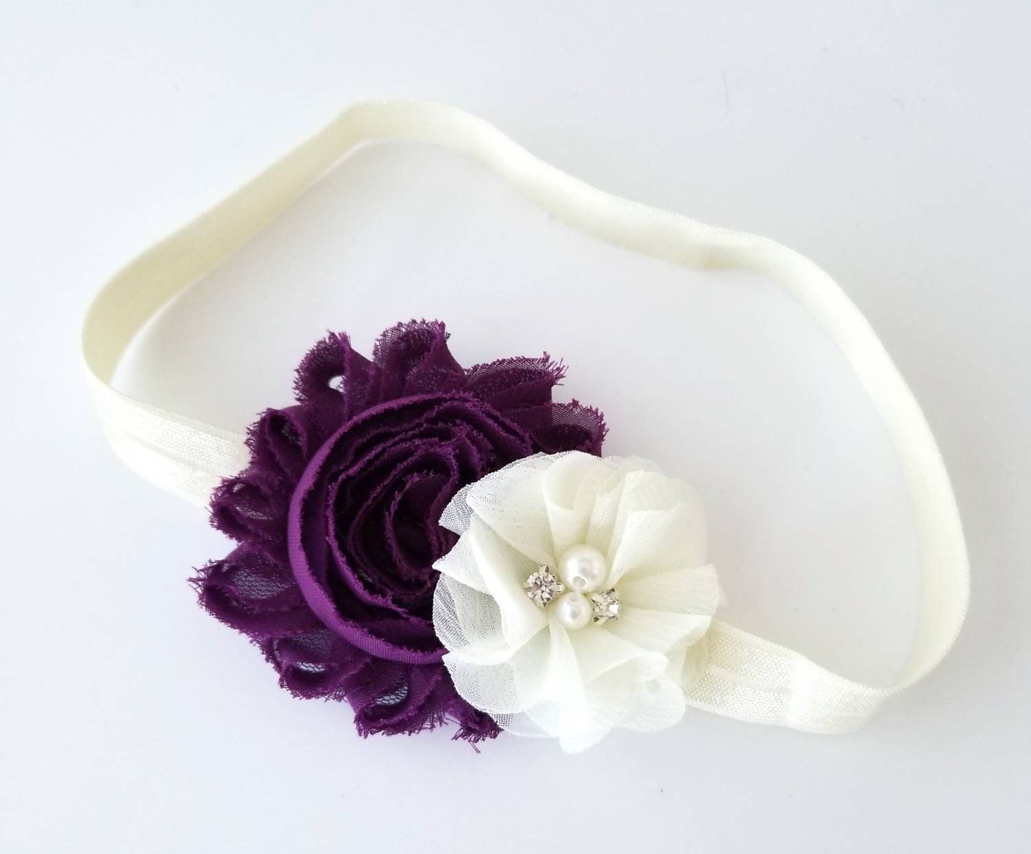 Newborn Flower Headband Girls Flower Headband Girls Fall Flower Headband Plum Flower Headband