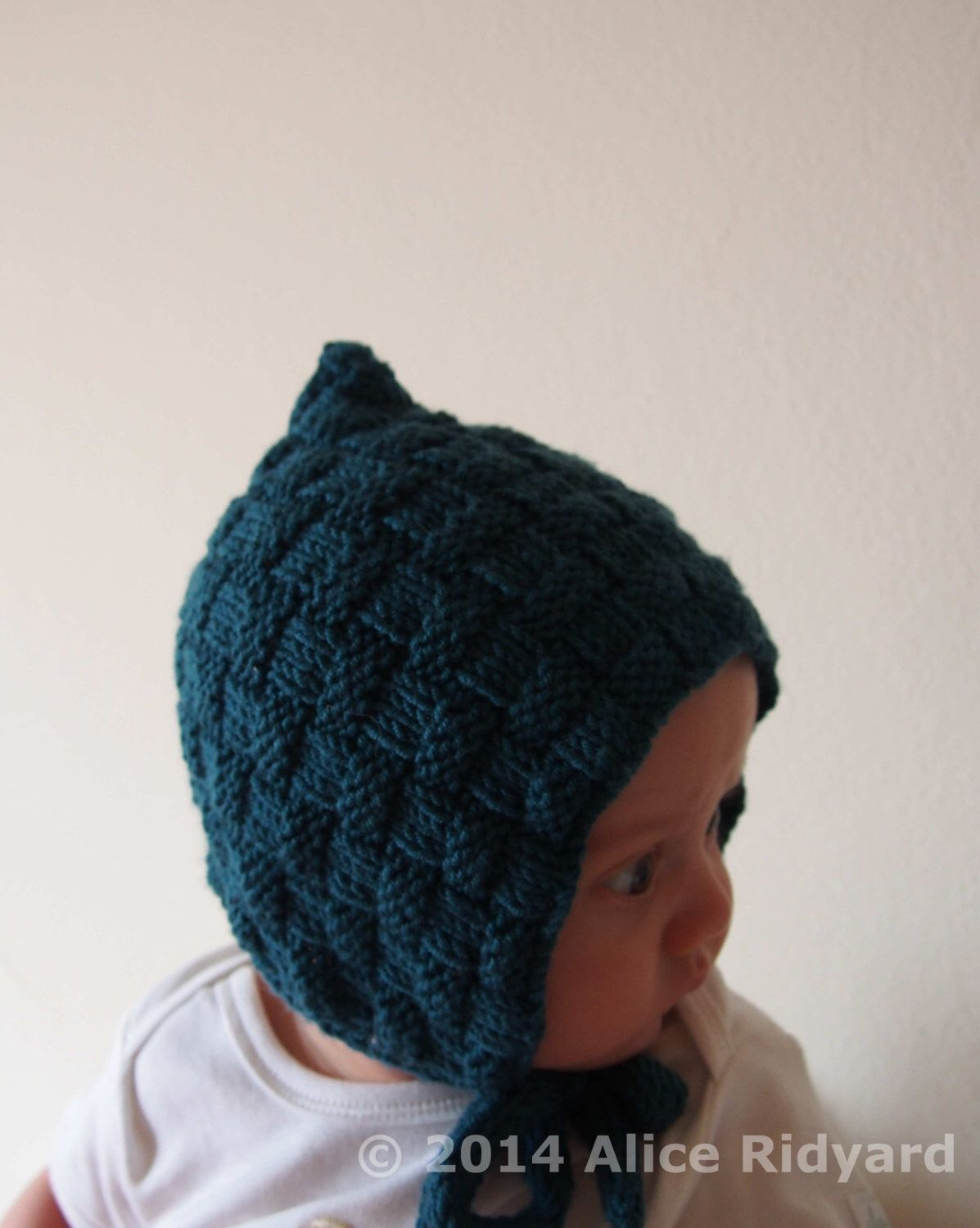 baby bonnet pattern - baby pixie hat pattern - pdf knit baby and ...