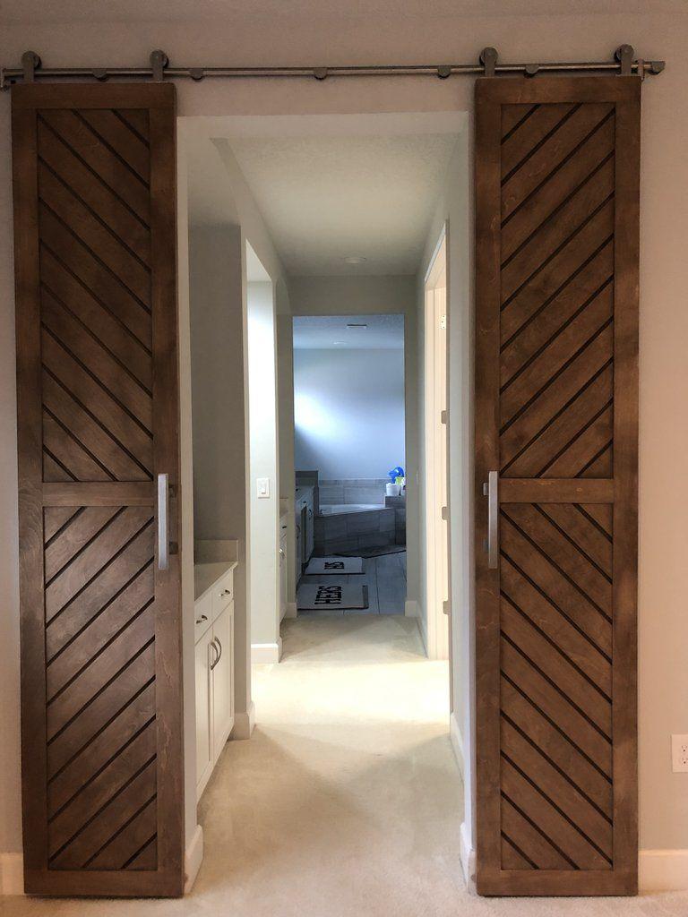 Chevron 2 Panel Door Barn Doors Sliding Garage Door Design Wood Doors Interior