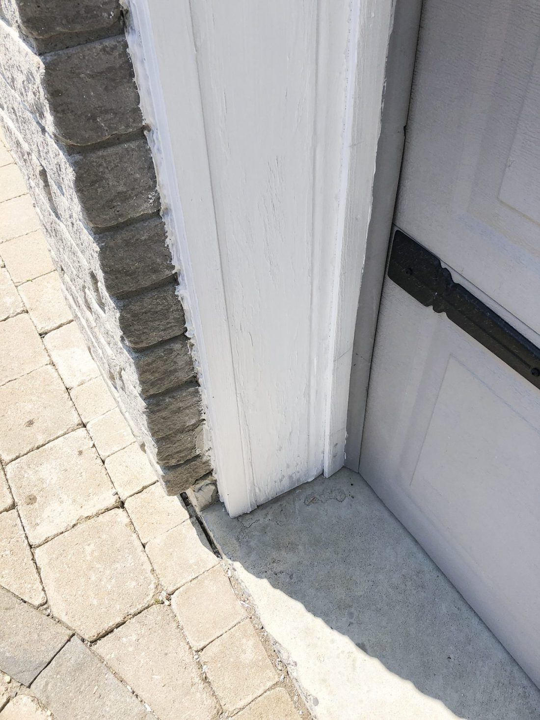 An Easy Solution To Peeling Outdoor Paint Outdoor Paint Garage Door Styles Painting Trim