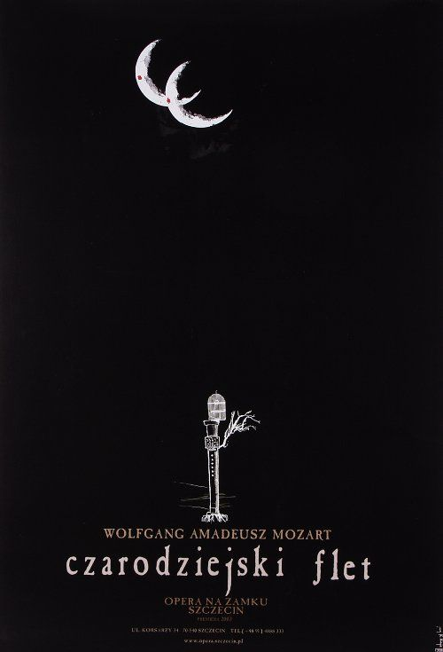 The Magic Flute Poster For The Opera Of Wolfgang Amadeus Mozart Original Polish Poster Designer Ryszard Kaja Year 2 Disenos De Unas Flauta La Flauta Magica