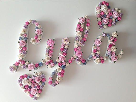 Custom Fl Name Script Font Flower Letter