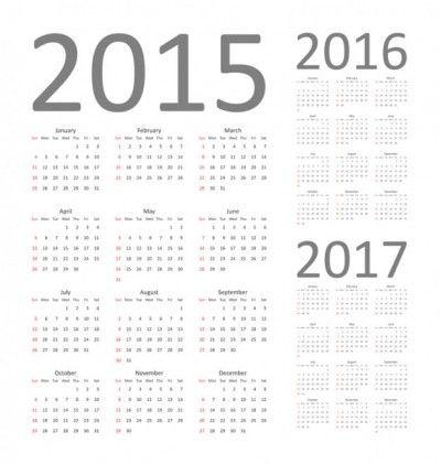 Calendar 2015 2016 And 2017 Papanoel Pinterest Free Vector