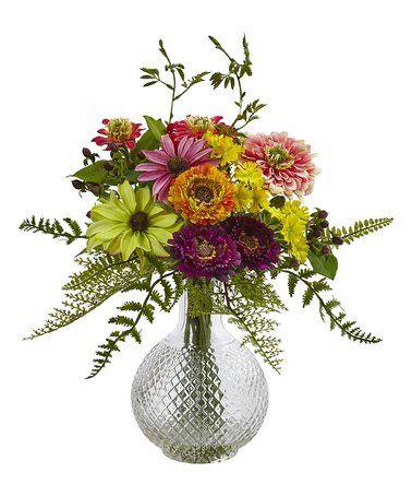Another great find on #zulily! Mixed Flower Arrangement in Glass Vase #zulilyfinds