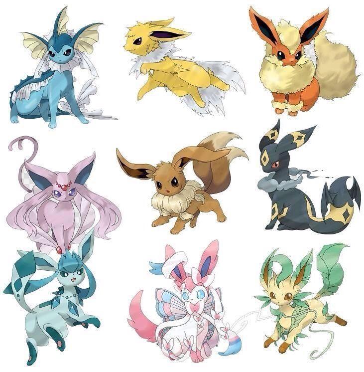 awesome eevee mega evolutions fan art pokemon pokémon pokemon