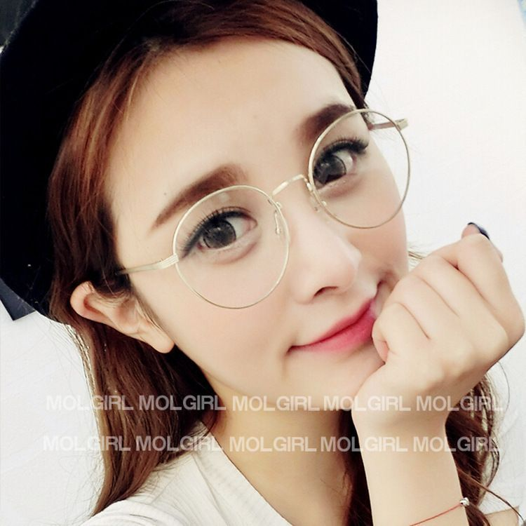 Thin Frame Hipster Glasses : 2015 Korean Hipster Vintage Metal Round Glasses Frame 2944 ...