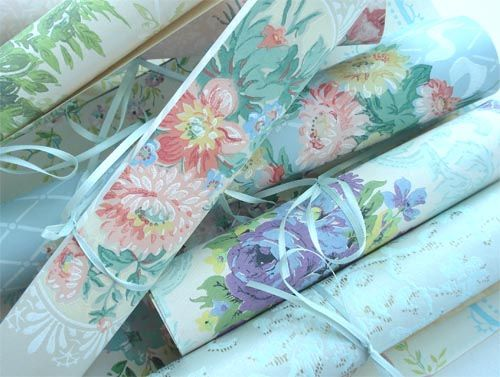 Vintage Wallpaper Rolls Vintage Wallpaper Wallpapers Vintage Fabric Wallpaper