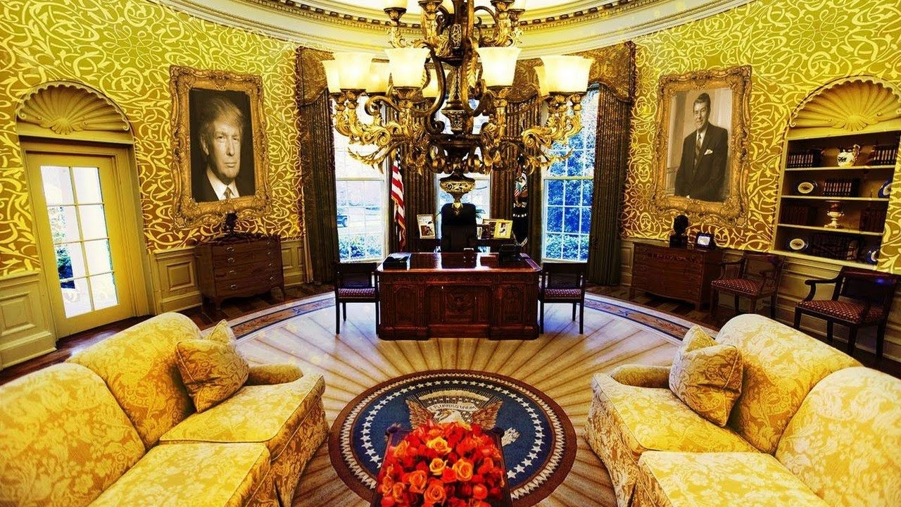Hot News President Trump Has Already Redecorated The Oval Office Home Office Layout Ideas 27919074 White House Interior Home Office Layouts Us White House