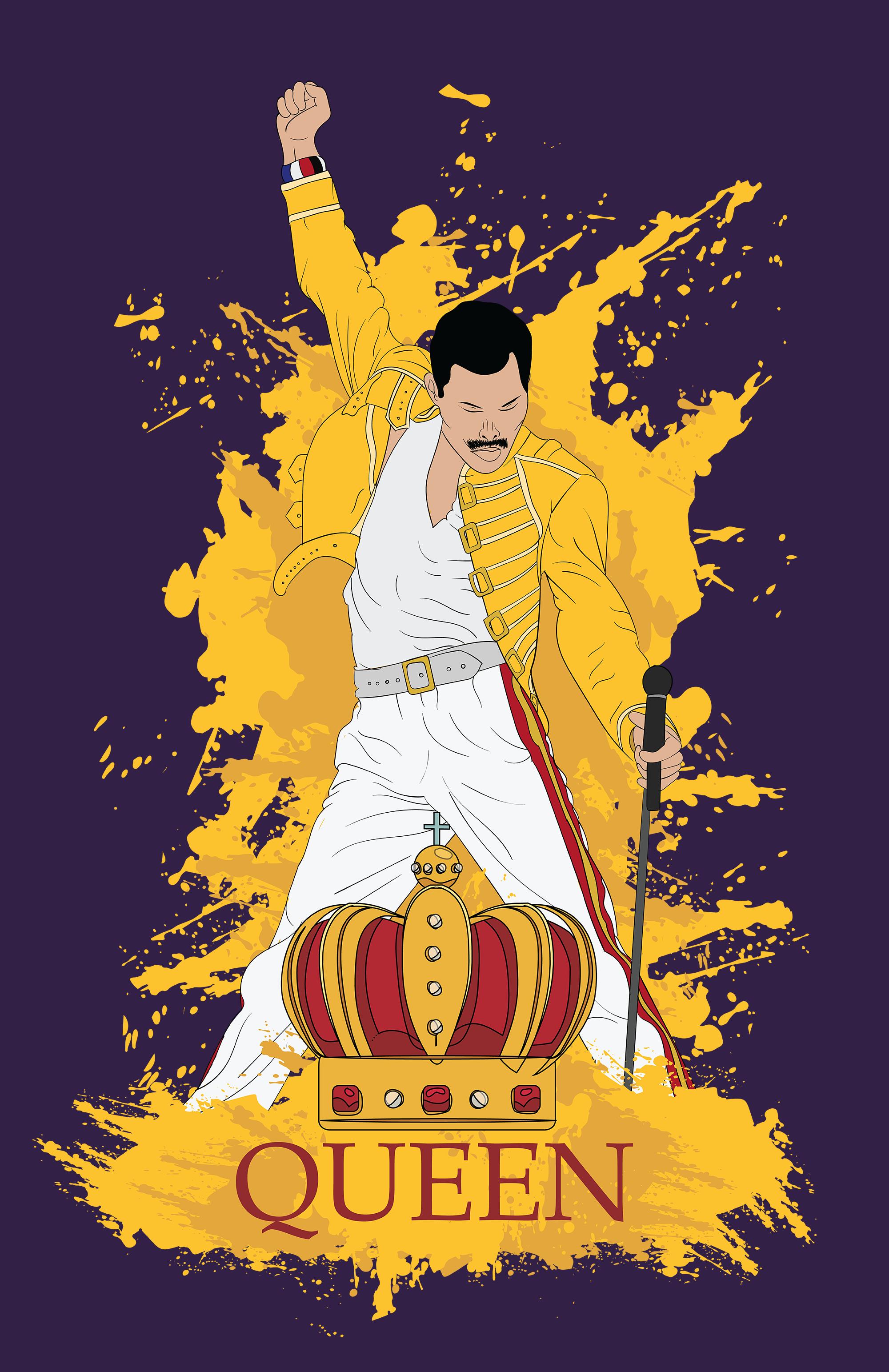 Yellow Suited Freddie Mercury Queen Queen Art Queen Poster Queen Band