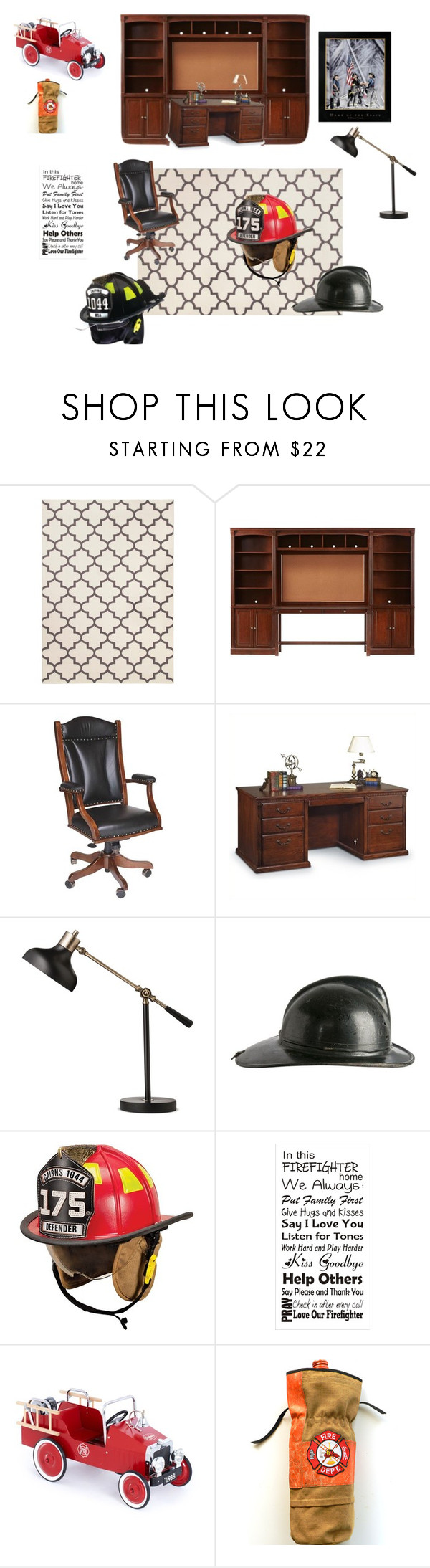 Threshold home decor shop for threshold home decor on polyvore -  Firefighters Study By Kwhitneyf Liked On Polyvore Featuring Interior Interiors Interior Amish Furniturefirefightersstudymartin